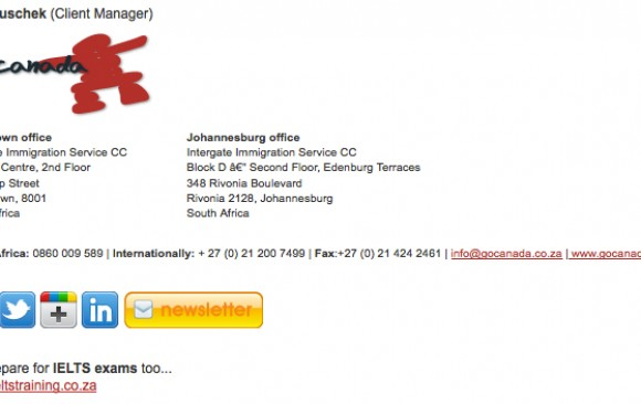 Email Signature | Emigration Agency