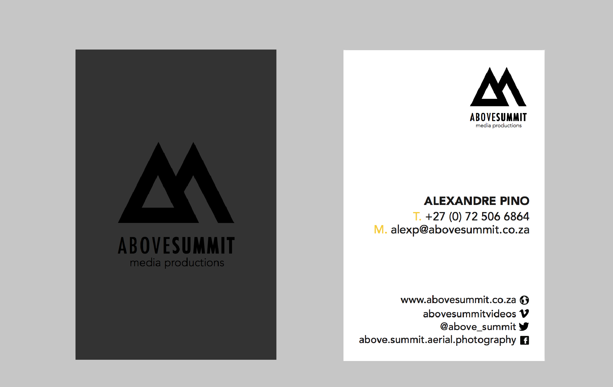 Above summit business cards 01 website maintenance marketing above summit business cards 01 reheart Images